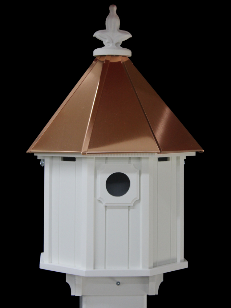 Sm Bird House Copper Roof H8c
